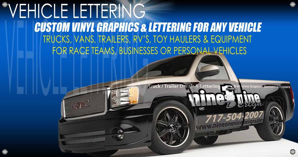 Truck trailer lettering nineonenine designs for Truck lettering design online