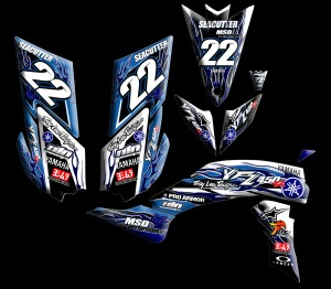 custom motocross graphics, pre-printed shrouds, motocross full kits, graphics kit, dirtbike shrouds, atv graphics kit