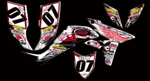 custom motocross graphics, pre-printed shrouds, motocross full kits, graphics kit, dirtbike shrouds, atv graphics kit