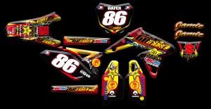 Custom motocross graphics, Suzuki RMZ
