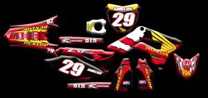 Custom motocross graphics, Honda CRF450R