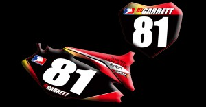 2012 Honda CRF250 Number Plates graphics