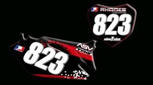 Honda 2012 Crf250 number plates