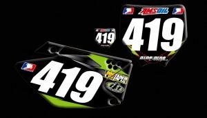 custom motocross graphics, pre-printed number plates, motocross full kits, graphics kit,