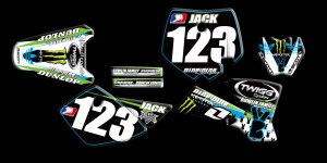 custom motocross graphics, pre-printed graphics, motocross full kits,