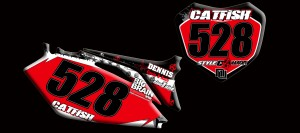 custom motocross graphics, pre-printed number plates, motocross fu