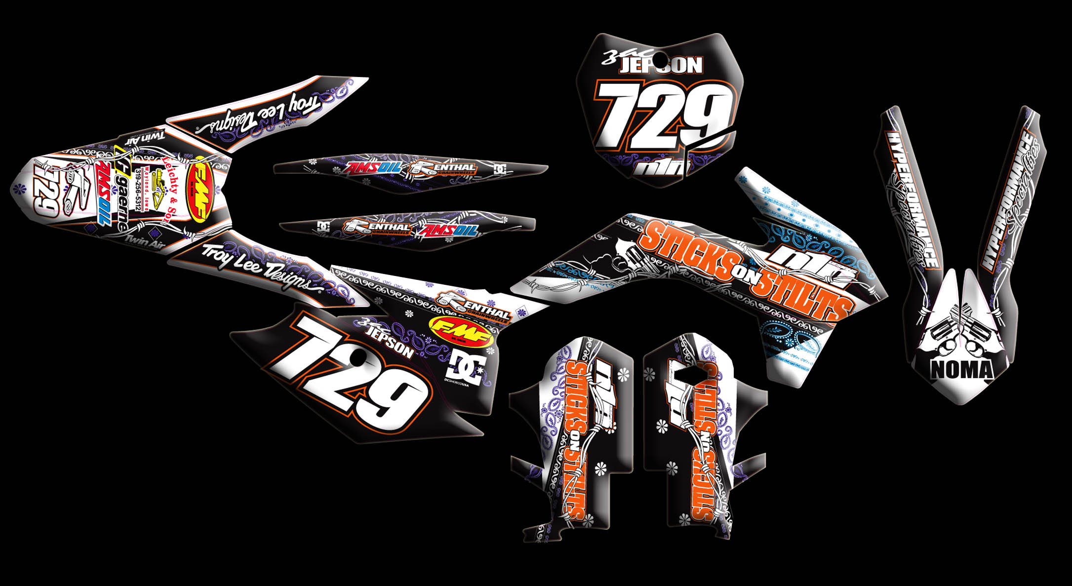 Ktm Shrouds With Graphics