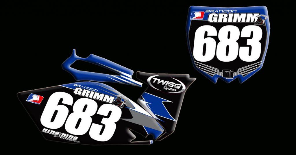 Yamaha 2010 Yz250f number plates