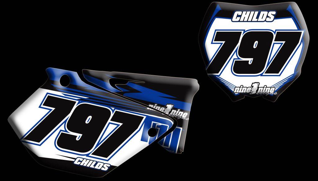 Yamaha 2009 Yz250 2 stroke number plates