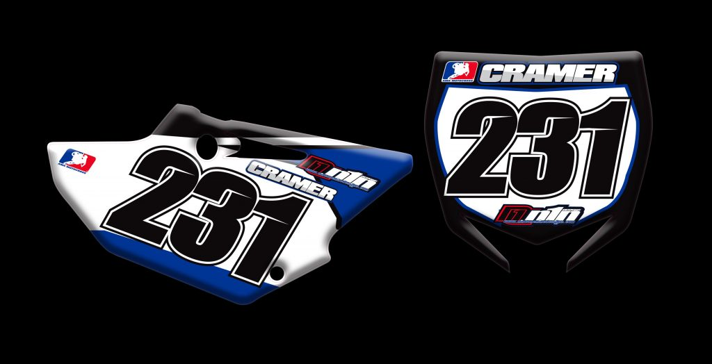 Yamaha 2015 Yz125 2 stroke number plates