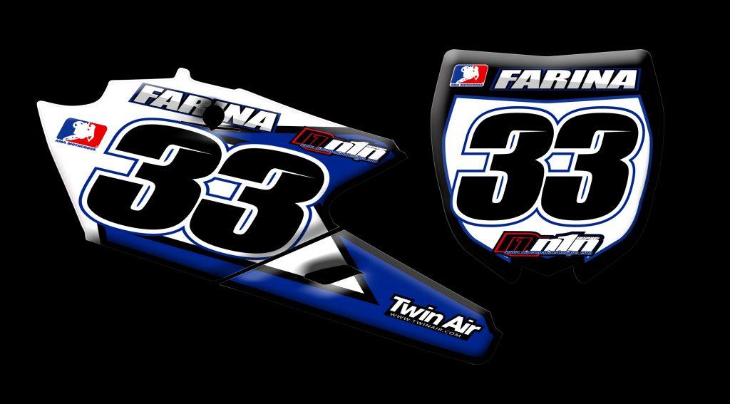 Yamaha 2015 Yz250f number plates