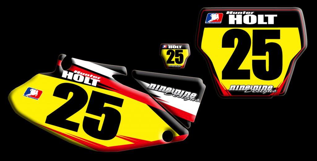 Honda 2003 Cr250 2 stroke number plates