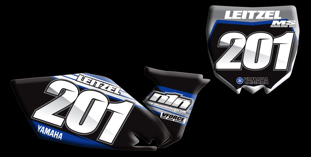 Yamaha 2013 Yz250f number plates