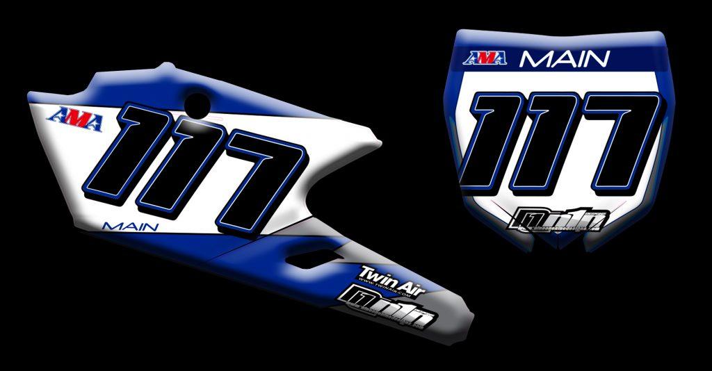 Yamaha 2017 Yz450f number plates
