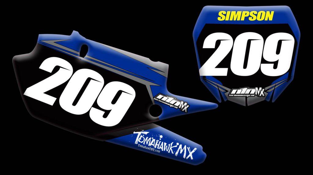 Yamaha 2020 Yz450f number plates