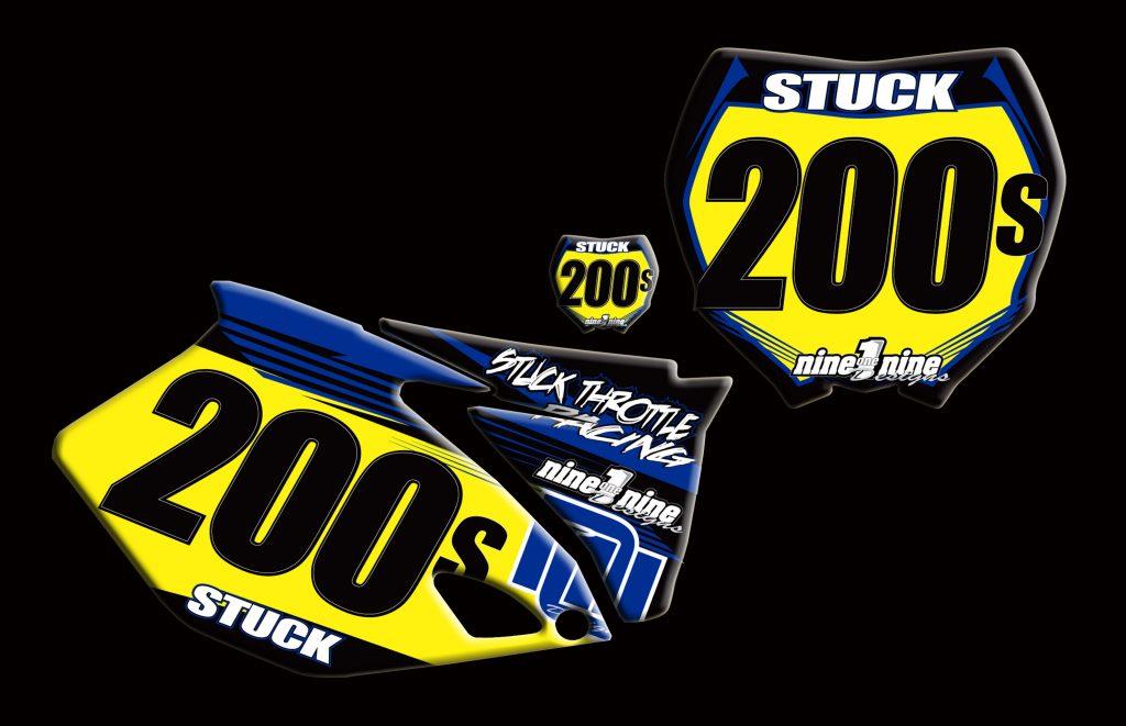 Yamaha 2011 Yz450f number plates