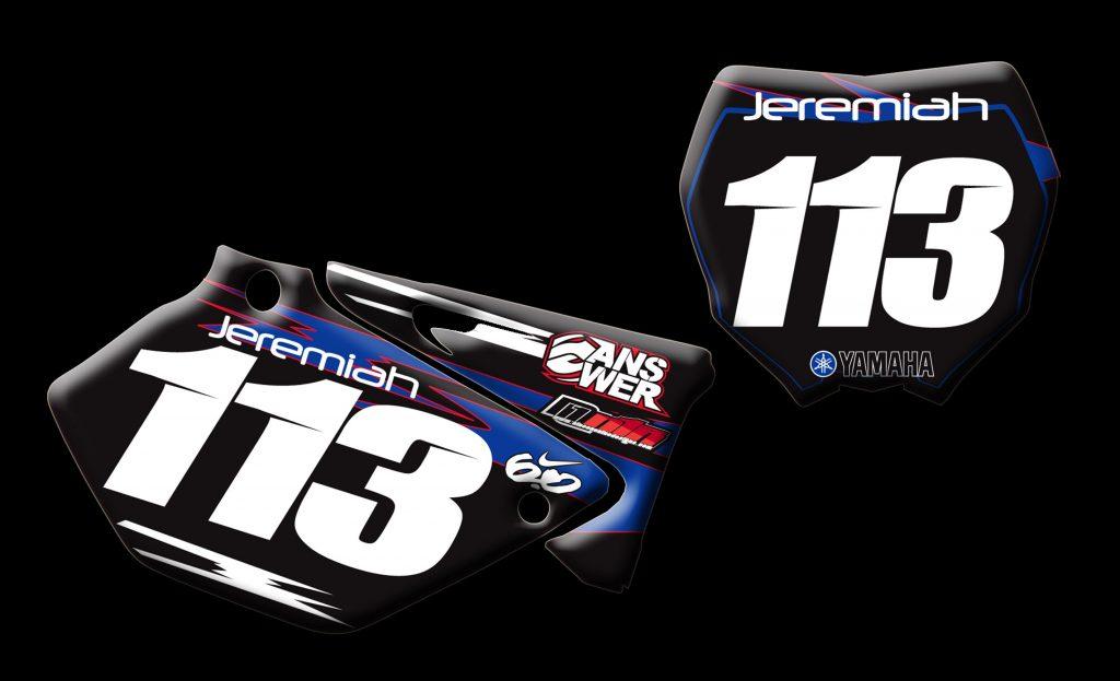 Yamaha 2014 Yz125 number plates
